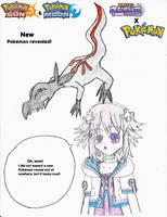 Neptune's reaction to the new Pokemon by Pikafan09