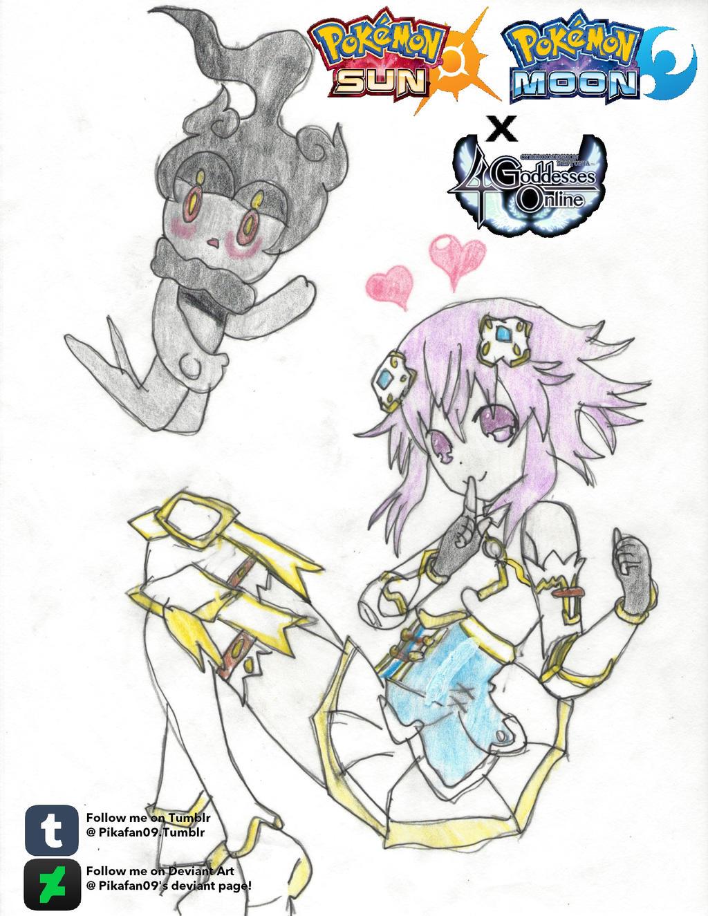 Neptune and Marshadow by Pikafan09