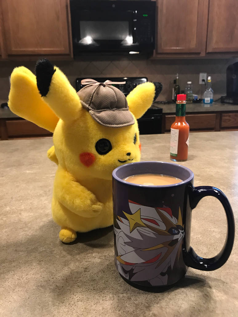 Detective Pikachu With Coffee By Pikafan09 On Deviantart