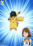 Pikachu wearing Gloria's hat
