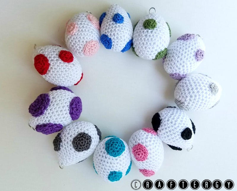 Free Yoshi Egg Crochet Pattern : Crochet Yoshi Eggs by Craftergy on DeviantArt