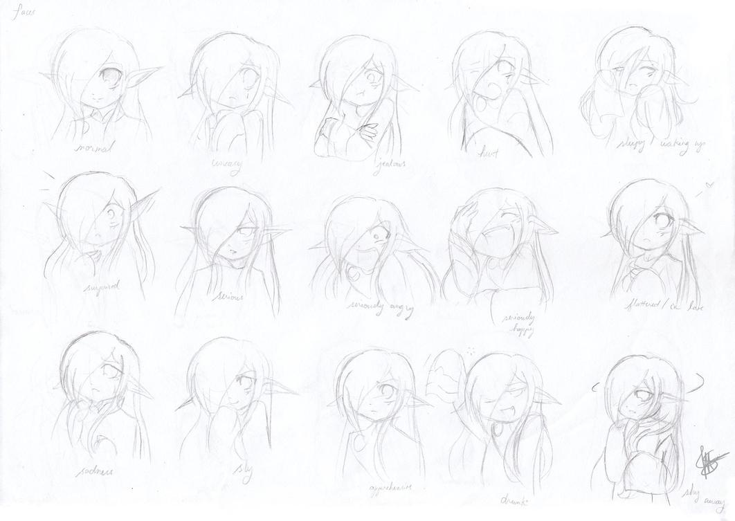 Facial Expressions 1 -Vaati- by MayJasmine