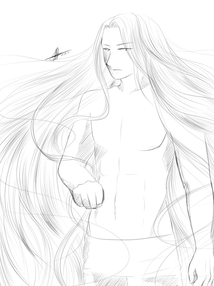 [H:UtS] sketch: hot sun by MayJasmine