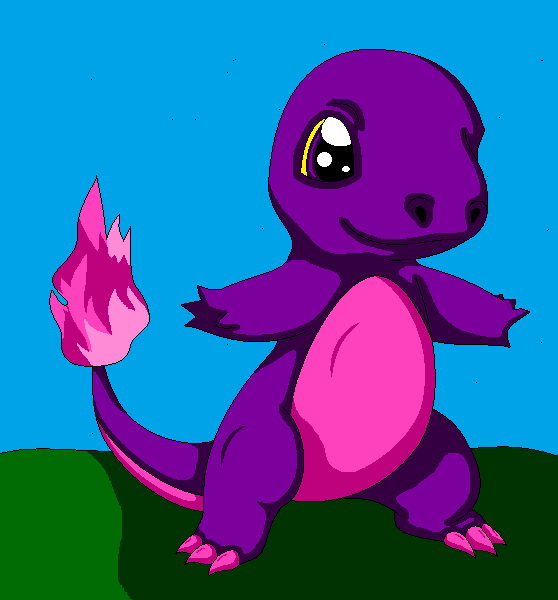 Charmander Purple by auroradragon93