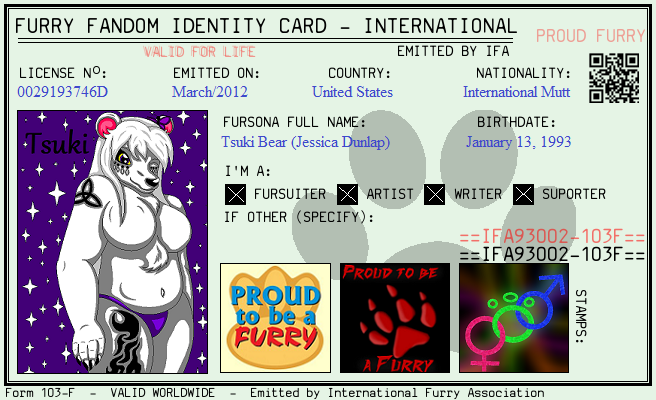 Furry ID Card by auroradragon93