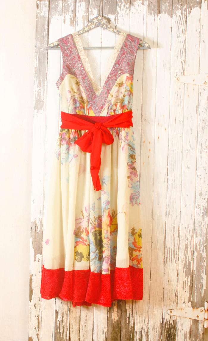 shabby chic vintage inspired 1950s dress by mynoush on