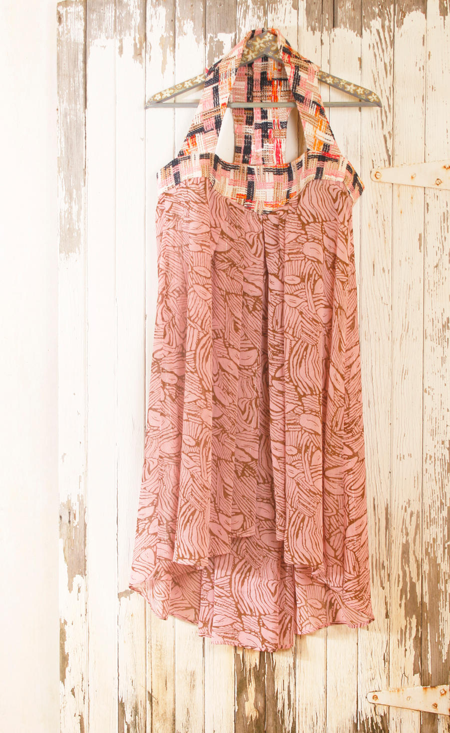 shabby chic maxi dress with pink butterflies by mynoush on