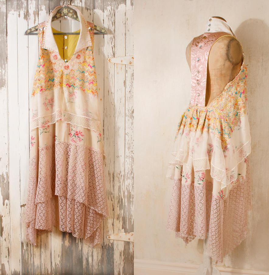 Bohemian wedding dress 1920s wedding dress by Mynoush on DeviantArt