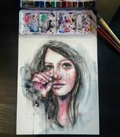 Silent tears by iamjinn
