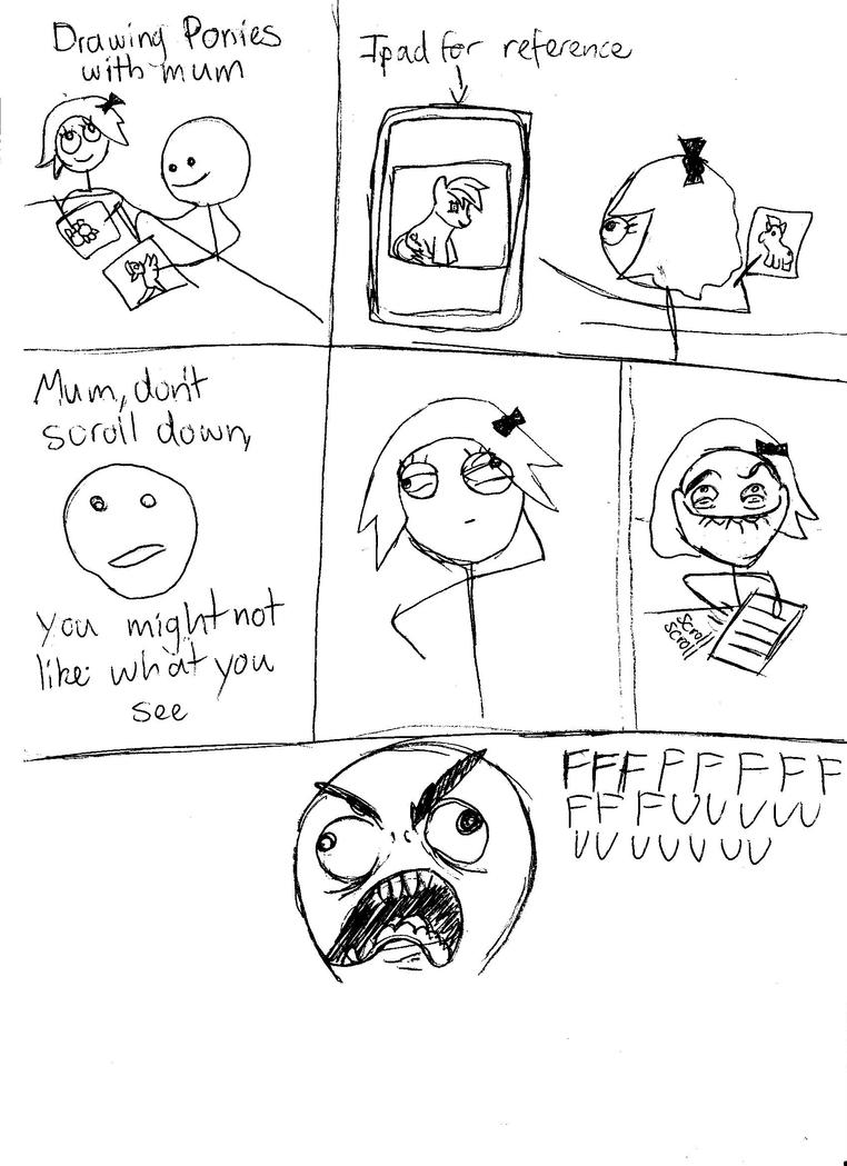 Rage Comic: Drawing with mum. by ElvisDitto
