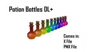 [MMD] Potion Bottles DL+