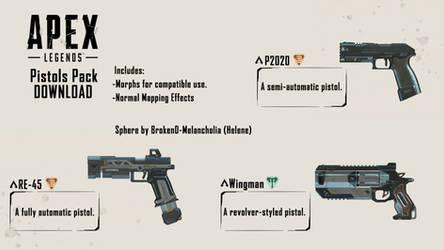 [MMD Apex Legends] Pistols Pack DL+