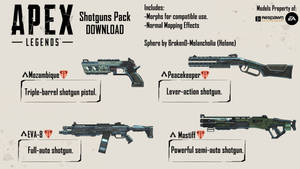 [MMD|Apex Legends] Shotguns Pack DL+