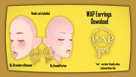 [MMD] WAP Earrings DL+ by Haztract