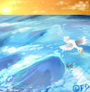 tiny ocean fly over by DuskofGold5