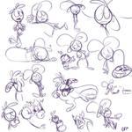 purple quick doodles