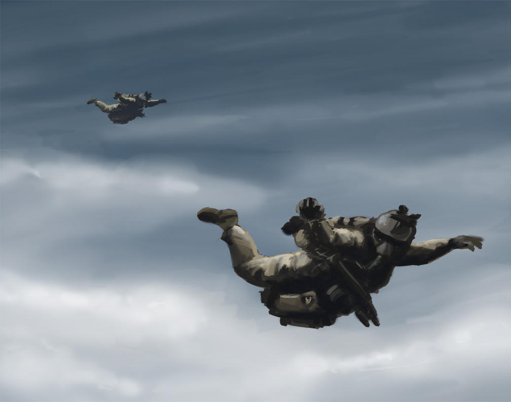 halo skydiving wallpaper