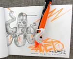 graffiti octopus