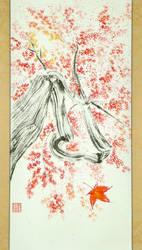 Sumi-e: Red Maple FINAL