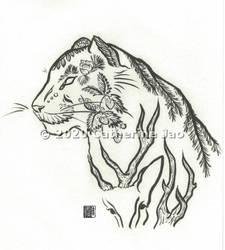 Hydroflask design - Siberian Tiger