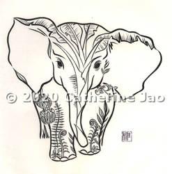 Hydroflask design - Borneo Elephant