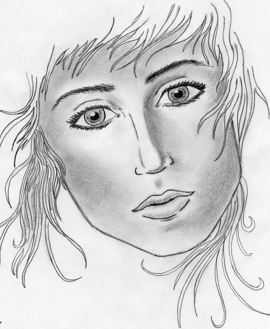 Female face sketch thexcalibur
