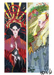 Tolkien bookmarks: Feanor and Thranduil