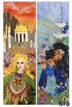 Tolkien bookmarks: Glorfindel and Ecthelion