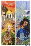 Tolkien bookmarks: Glorfindel and Ecthelion