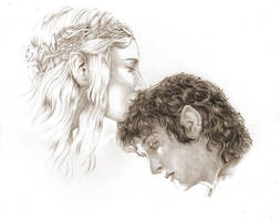 Frodo and Galadriel by studiomia