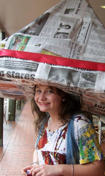 Юбка из газеты инструкция фото