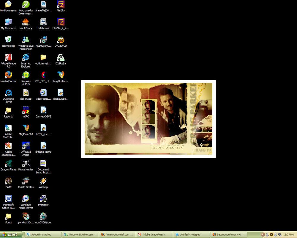 Craig Parker Collage Desktop by Haldir-o-Lorien
