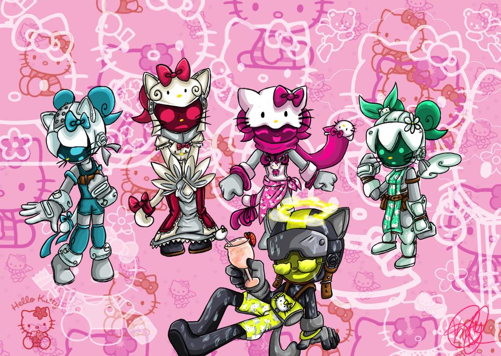 Hello Kitty Comission by xKatyBlackRosex
