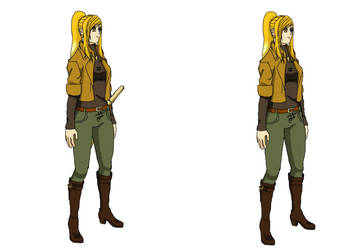 Kano Casual Wear (With and without sword) by kezzymo