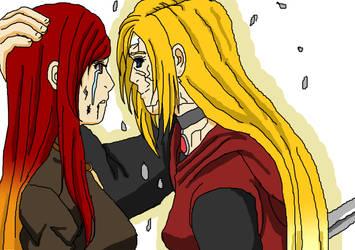 Kano and Katsumi by kezzymo