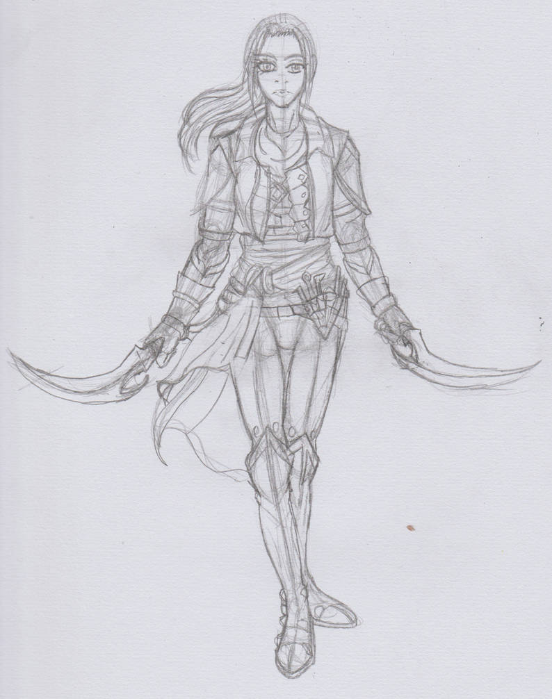 Hand drawing of my Inquisitor OC by kezzymo