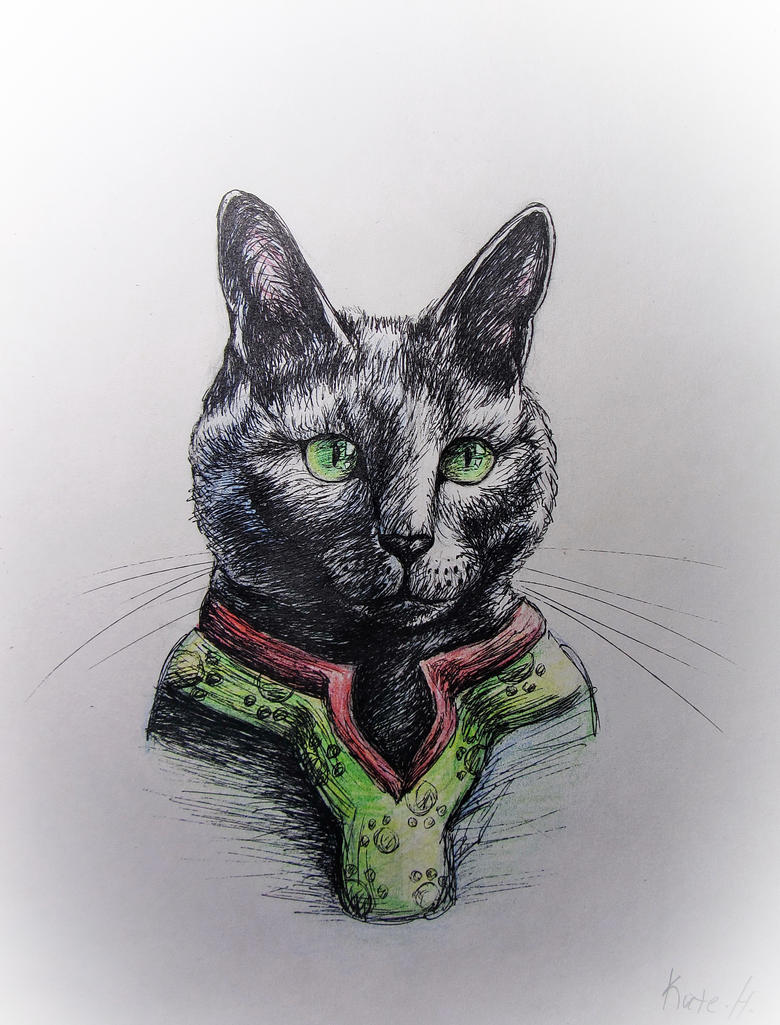 My Nika cat by KateHubar