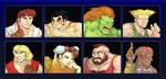 Street Fighter II Redraws by Luichi-arts