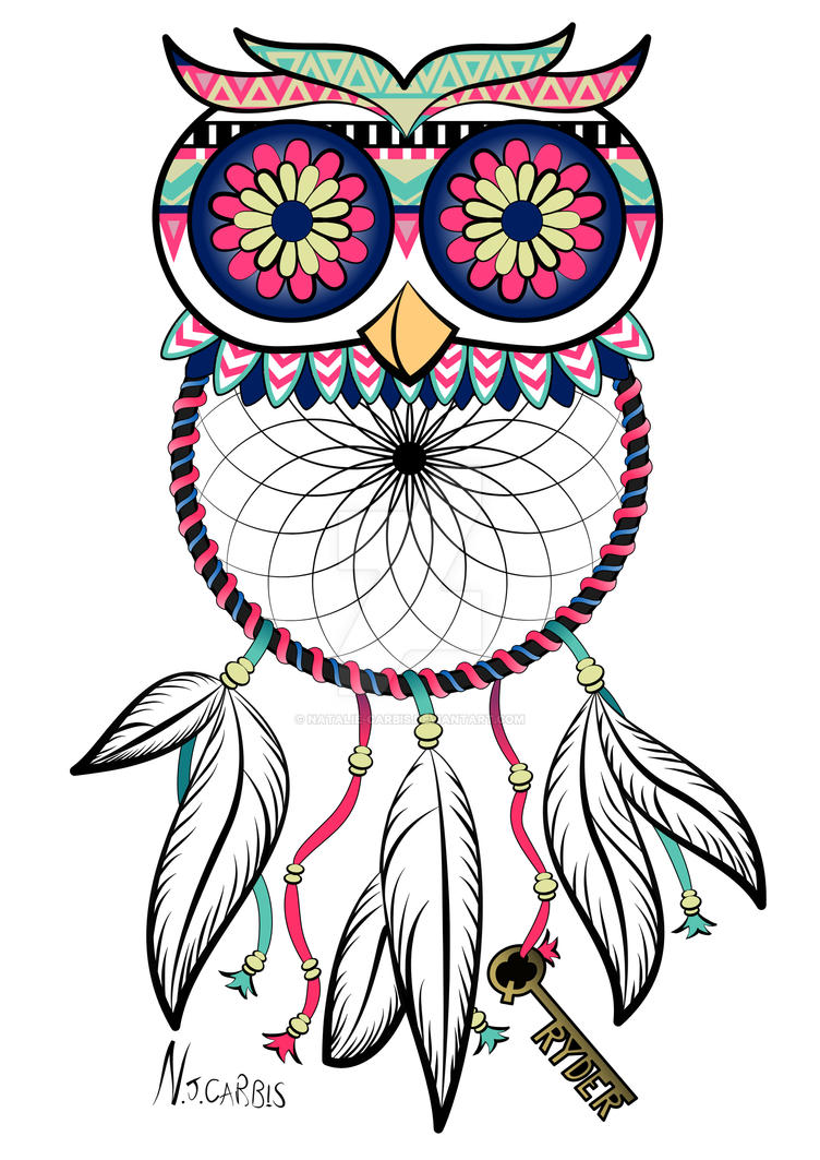 Owl Dreamcatcher Tattoo by natalie-carbis on DeviantArt