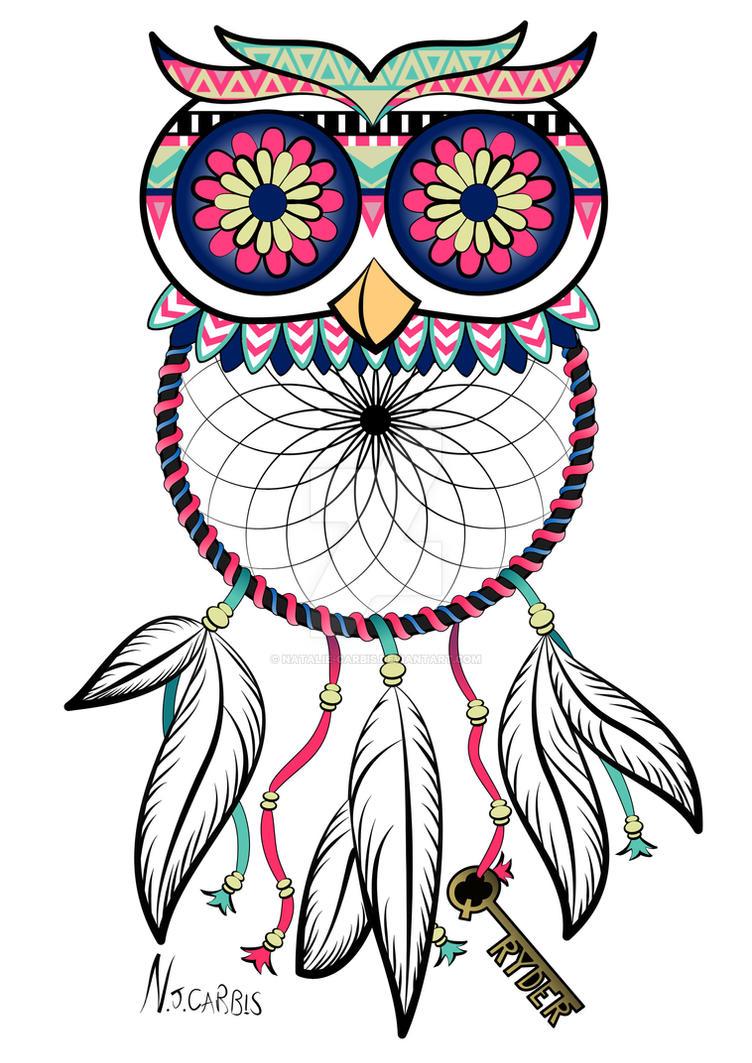Owl Dreamcatcher Tattoo By Natalie Carbis On DeviantArt