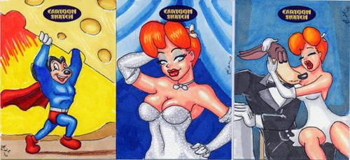 Cartoon Sketch Card set 1