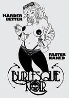 Burlesque Noir shirt design by Artassassin