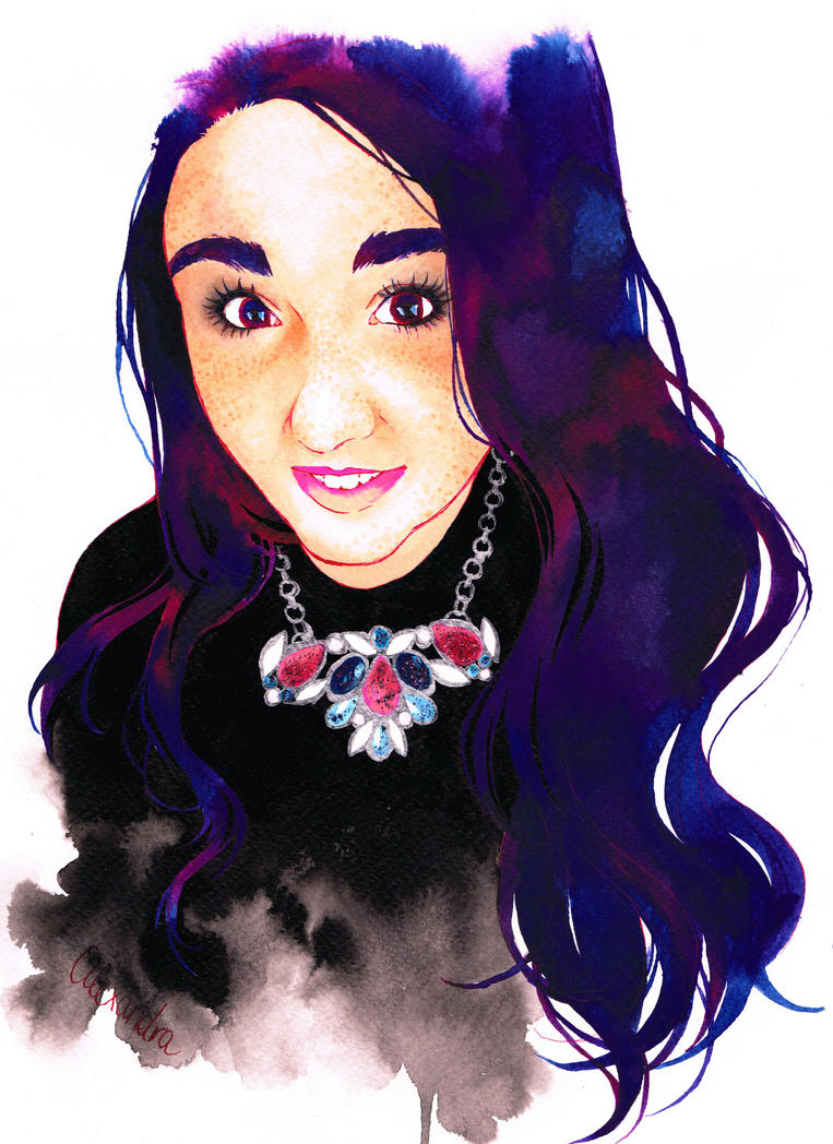 Watercolor Portrait by Vanilla-Mai