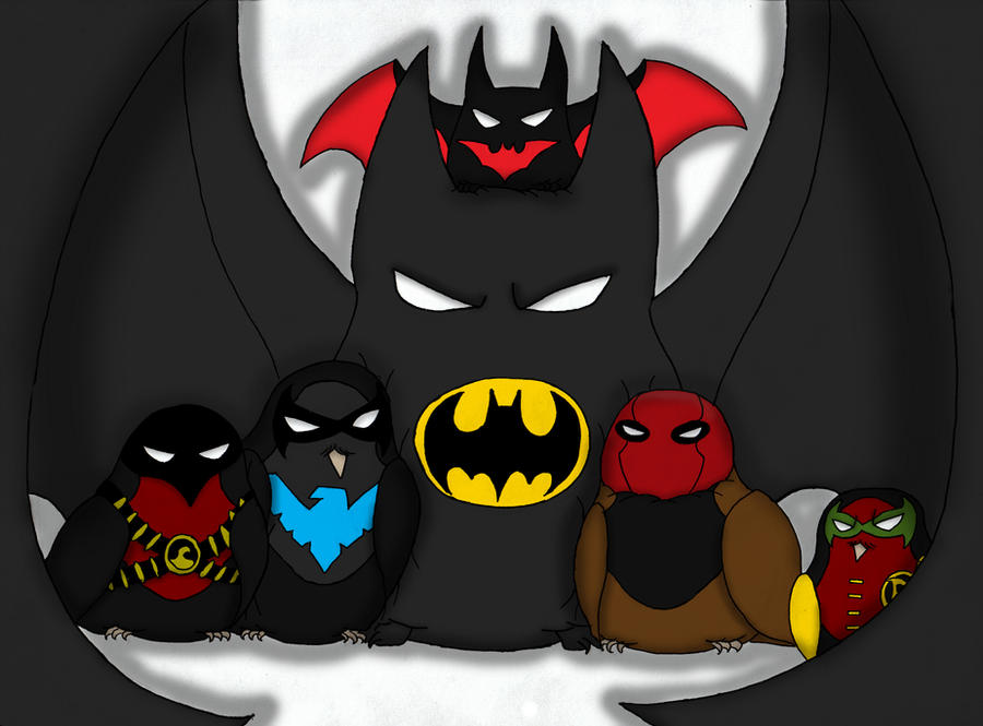 Bats and Robins by Te-double-gz