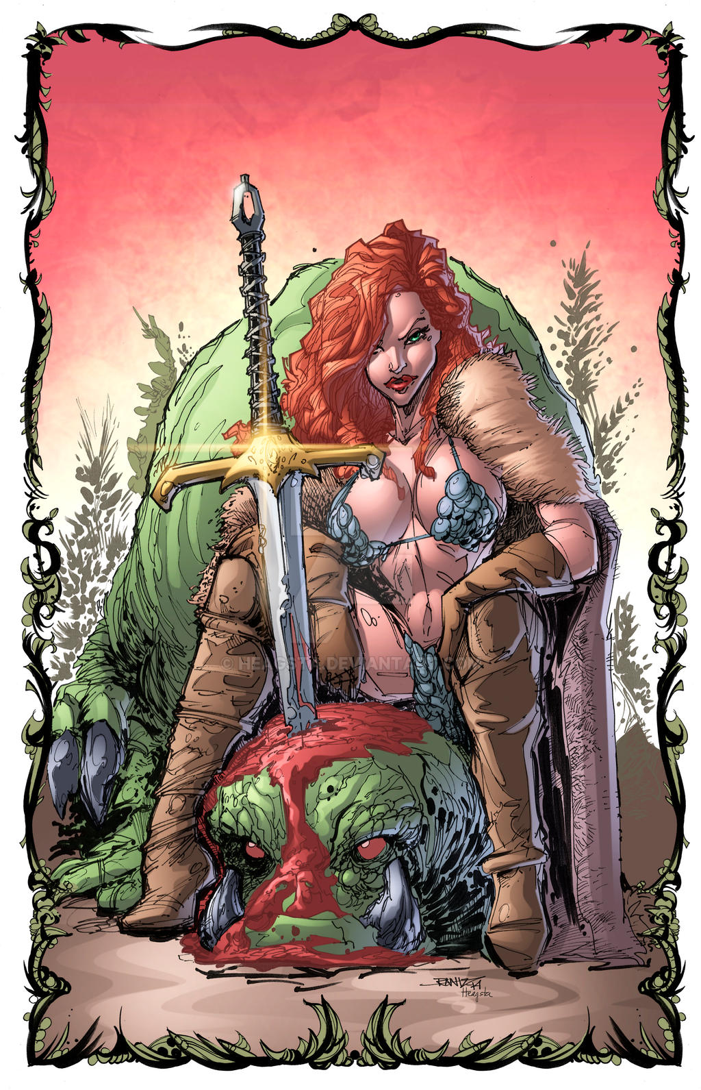 red sonja 14 Colors by HeagSta