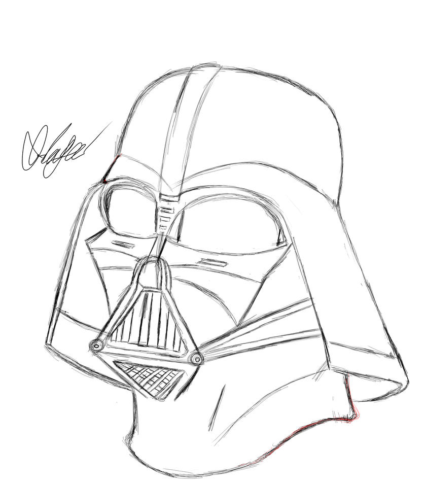 Darth Vader Line Art Darth vader fan art by Lego Star Wars R2d2 Coloring Pages