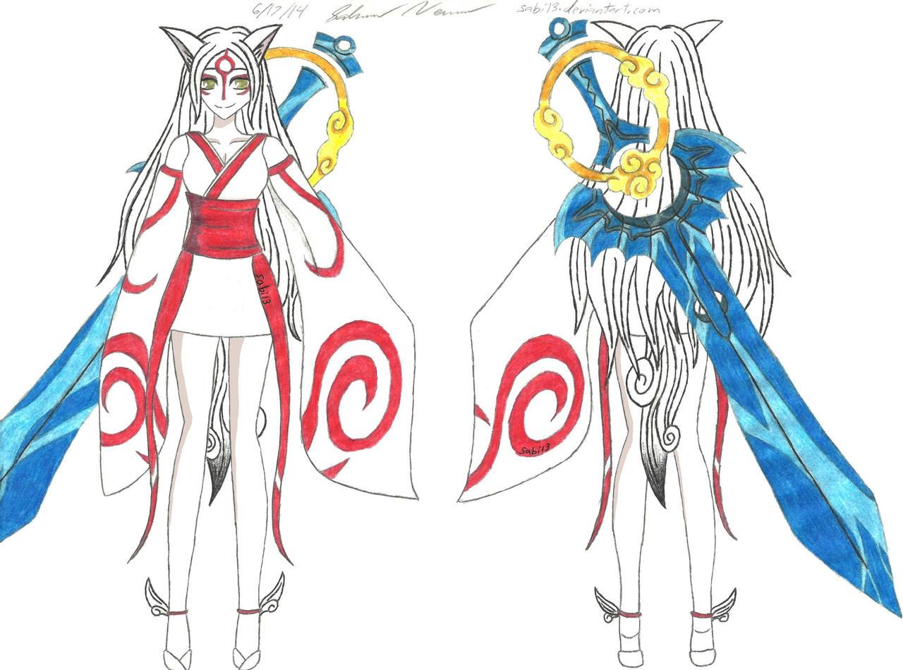 Amaterasu Cosplay Design by Sabi13