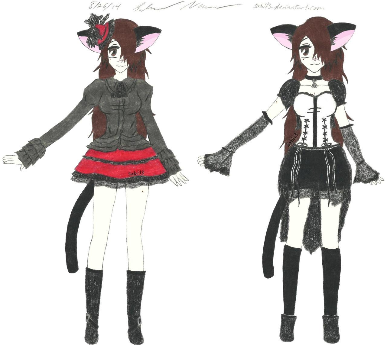 Sabi-chan Alternate Outfits by Sabi13