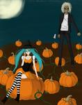 Happy Halloween from Miku and Eddie (Art Trade)