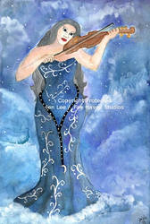 Shades of Blue: Celestial Harmony by JenLeeArt